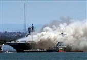 ملوان نیروی دریایی آمریکا متهم به آتش سوزی عمدی ناو «بونهام ریچارد»