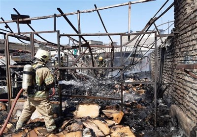جزئیات آتشسوزی در پاساژ تولید کفش بازار تهران + تصاویر