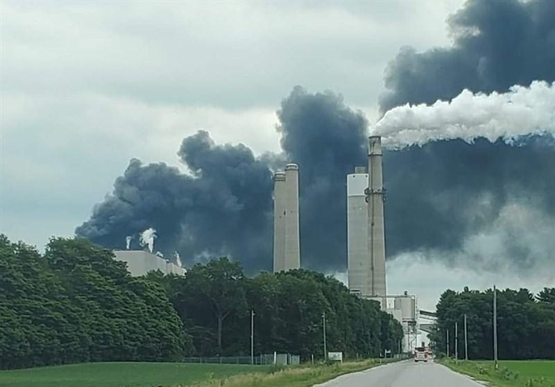 انفجار و آتشسوزی در یک نیروگاه برق در ایالت ایندیانا
