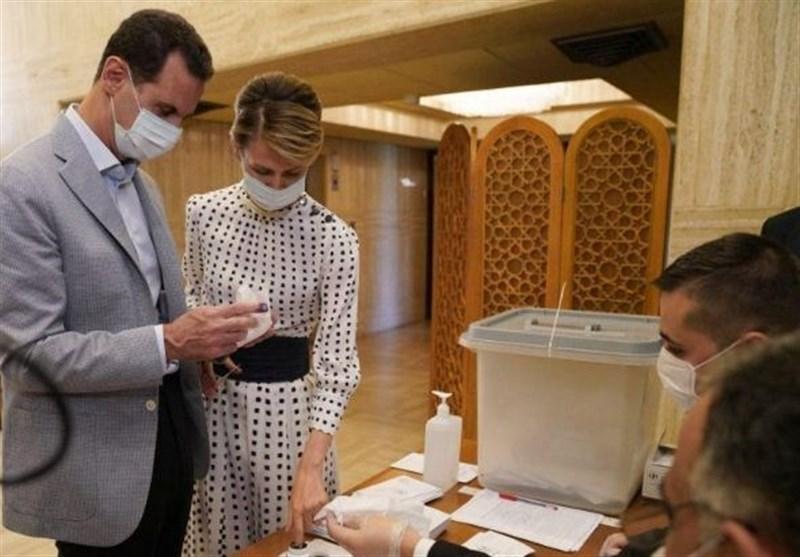 انتخابات سوریه|بشار اسد و همسرش رای خود را به صندوق انداختند