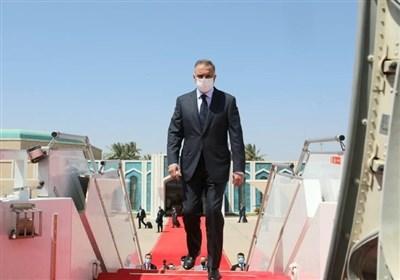 لحظة وصول رئیس الوزراء العراقی إلى طهران
