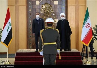 روحانی یستقبل رئیس الوزراء العراقی رسمیاً
