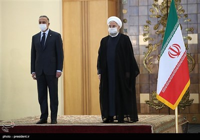 استقبال حجتالاسلام حسن روحانی رئیسجمهور از مصطفی الکاظمی نخست وزیر عراق