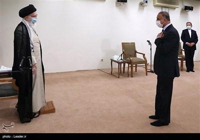 الإمام الخامنئی یستقبل رئیس الوزراء العراقی