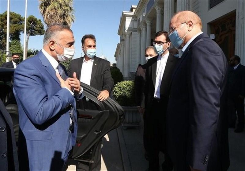 """قالیباف در دیدارِ """"الکاظمی"""": پرونده ترور شهید سلیمانی با قدرت پیگیری شود"""
