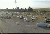 کهگیلویه و بویراحمد  تجمع انبوه زبالهها در روستای سمغان و تنفس سخت در روزهای گرم + تصاویر