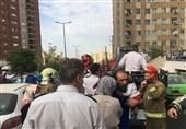 آتشسوزی در یک مجتمع 10 طبقهای در شمال شرق تهران + تصاویر