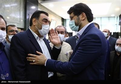 مهرداد بذرپاش رئیس دیوان محاسبات کشور و عادل آذر رئیس سابق دیوان محاسبات