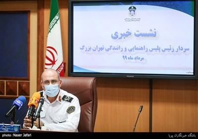 نخستین نشست خبری رئیس جدید پلیس راهور تهران بزرگ