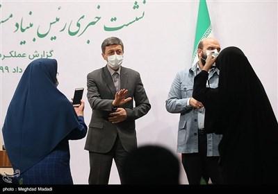 پرویز فتاح رئیس بنیاد مستضعفان انقلاب اسلامی در جمع خبرنگاران
