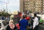 فیلم| نجات 100 نفر در حادثه آتشسوزی مجتمع مسکونی 10 طبقه