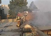 آتشسوزی در مغازه 3 طبقه + فیلم و تصاویر