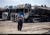 گزارش میدانی خبرنگار تسنیم از آتشسوزی تانکرهای حمل سوخت در کرمانشاه به همراه جزئیات و علت حادثه + فیلم