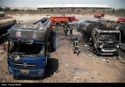 انفجار در پارکینگ تانکرهای سوخت