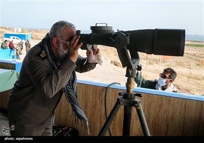 سردار محمدرضا نقدی در مرحله نهایی رزمایش موشکی و دریایی سپاه پاسداران انقلاب اسلامی با نام «پیامبر اعظم(ص)14»