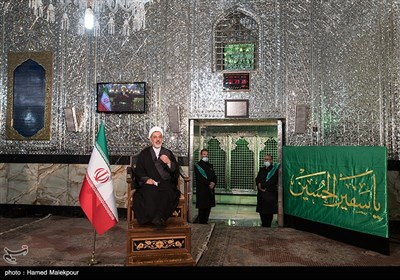 سخنرانی حجتالاسلام رفیعی در مراسم عزاداری مسلیمه در حرم حضرت عبدالعظیم حسنی(ع)