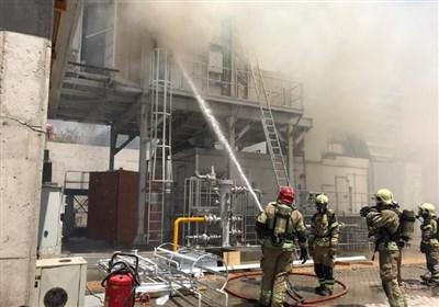 آتشسوزی در اداره برق خیابان ستارخان + تصاویر