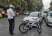 استفاده پلیس راهور از دوچرخه برای مأموریت و اعمال قانون در تهران + تصاویر