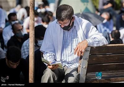 مراسم دعای عرفه امام حسین (ع) در مسجد ارک تهران و خیابانهای اطراف