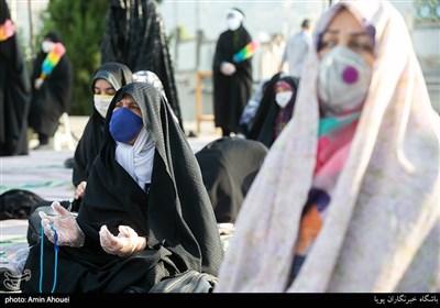 در حاشیه نماز عید قربان در امامزاده پنج تن لویزان