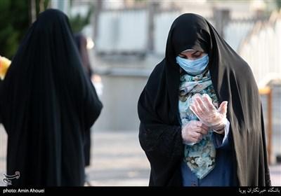 رعایت اصول بهداشتی در اقامه نماز عید قربان در امامزاده پنج تن لویزان