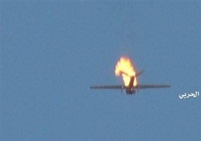 مشاهد لطائرة RQ-20 التی أُسقطت فی مدینة حرض قبالة جیزان