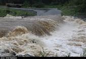 طغیان رودخانه «بازفت» شهرستان کوهرنگ/ جادههای روستایی منطقه مسدود شد