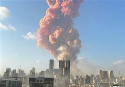 انفجار هائل یهز مرفأ بیروت جراء احتراق خزانات ووقوع ضحایا واضرار جسیمة