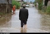 تراژدی آبگرفتگی خیابانهای اصلی و مرکز شهر رامشیر پس از بارش باران+فیلم