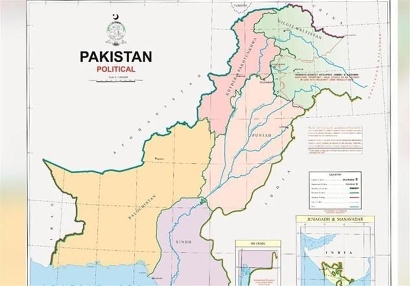 پاکستان نقشه رسمی جدید منتشر کرد