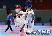 برگزاری مسابقات تکواندو در کرهجنوبی در دوران کرونا با ماسک