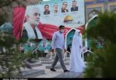 کرمان| آغاز زندگی زوج جوان راوری از مزار حاج قاسم سلیمانی به روایت تصویر