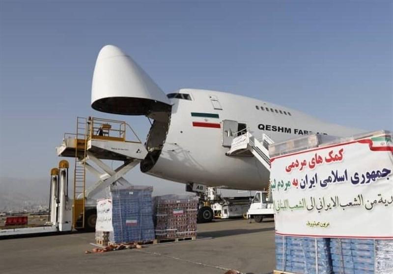ورود اولین محموله کمکهای ایران به بیروت+عکس