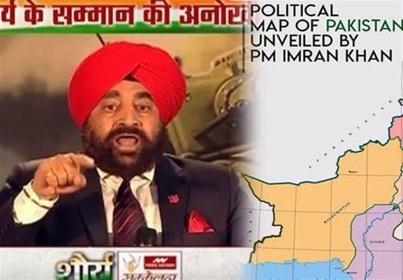 پاکستان کا نیا نقشہ: بھارتی جنرل کی جانب سے حکومت کے لئے خطرے کی گھنٹی بجادی گئی