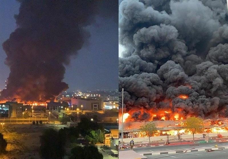 علت آتش سوزی در بازار «عجمان» امارات مشخص شد+فیلم