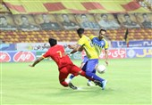 لیگ برتر فوتبال| تساوی فولاد و نفت مسجدسلیمان در نیمه اول