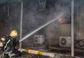 آتشسوزی بزرگ در قطار سریعالسیر جده عربستان+عکس