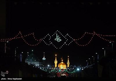 چراغانی شهر مشهد