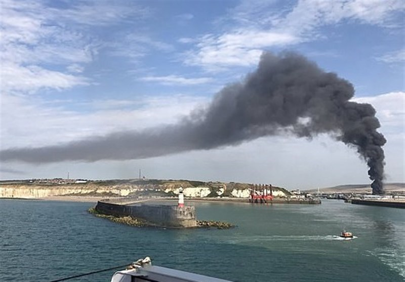 'Explosion' at Sussex Port Sends Thick Black Smoke Cloud That Can Be Seen for Miles into Sky