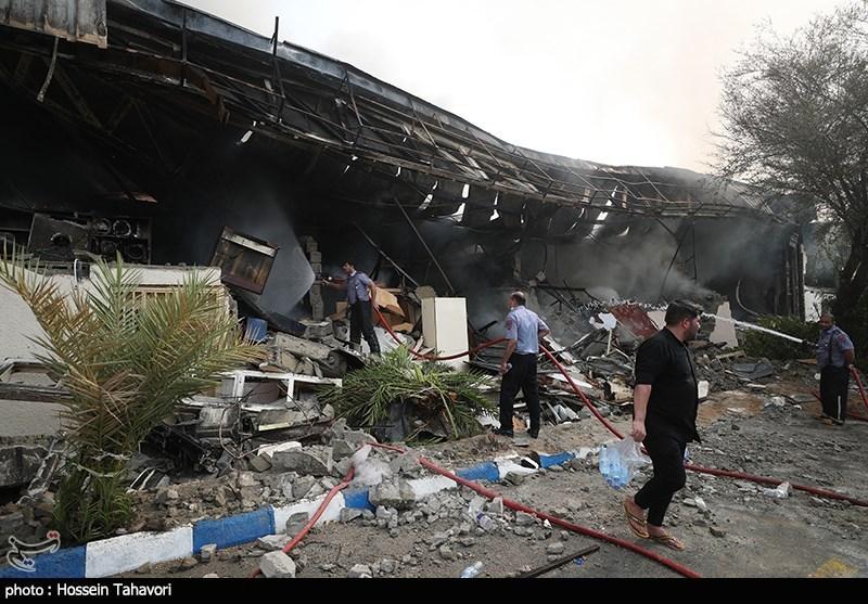 آتش سوزی بازار پردیس - کیش