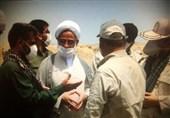 بازدید نماینده ولی فقیه در سپاه از قرارگاه قدس نزسا