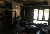 خاکستر شدن منزل مسکونی در دربند/ نجات 10 نفر از میان دود غلیظ + تصاویر