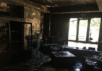 خاکستر شدن منزل مسکونی در دربند/ نجات ۱۰ نفر از میان دود غلیظ + تصاویر
