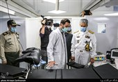 بازدید امیر دریادار حبیب الله سیاری رئیس ستاد و معاون هماهنگ کننده ارتش از سامانههای متحرک درمانی و انتقال بیمار