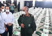 سپاه استان بوشهر 10 هزار بسته معیشتی میان نیازمندان توزیع کرد