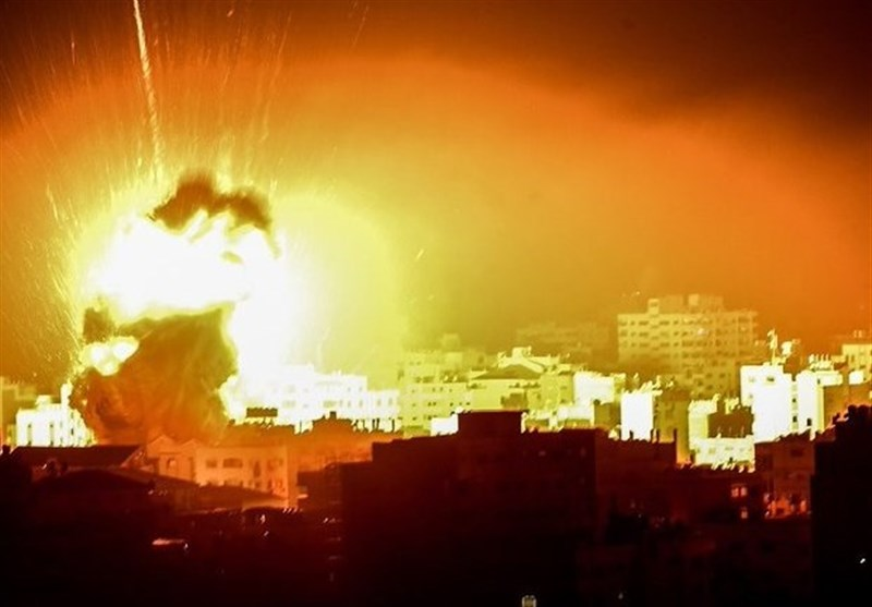 حملات هوایی و توپخانه ای رژیم صهیونیستی به غزه