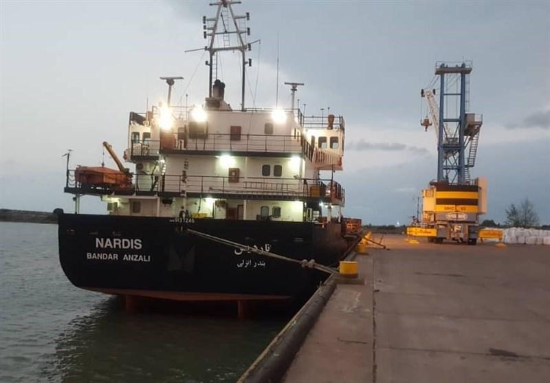 پهلوگیری اولین کشتی کشتیرانی دریای خزر در بندر فریدونکنار