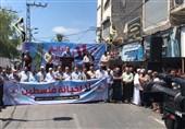 تظاهرات مردم غزه در محکومیت توافق امارات و رژیم صهیونیستی با شعار «بن زاید خائن است»