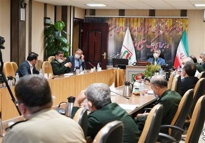بازدید فرماندهان بهداشت درمان نیروهای مسلح از قرارگاه پدافند زیستی