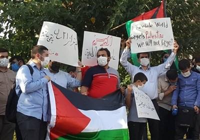تجمع دانشجویان تهرانی مقابل سفارت امارات + عکس